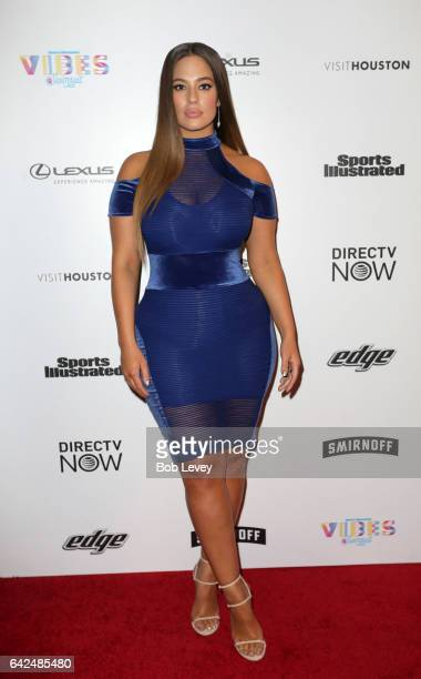 Swimsuit model Ashley Graham at the VIBES by Sports Illustrated Swimsuit 2017 launch festival on February 17 2017 in Houston Texas