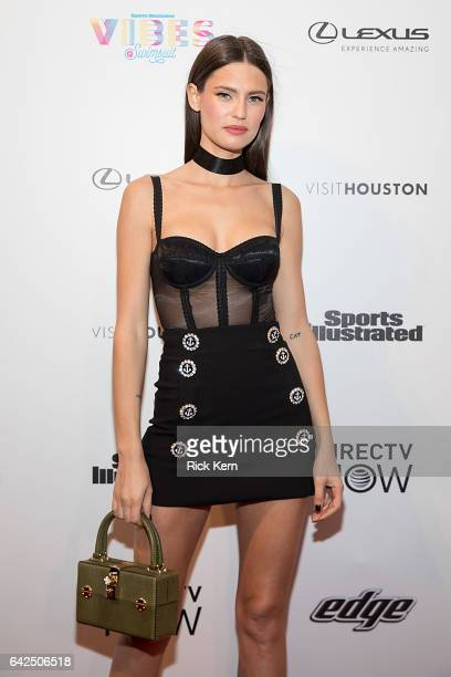 Swimsuit model Bianca Balti attends the VIBES by Sports Illustrated Swimsuit 2017 launch festival at Post HTX on February 17 2017 in Houston Texas