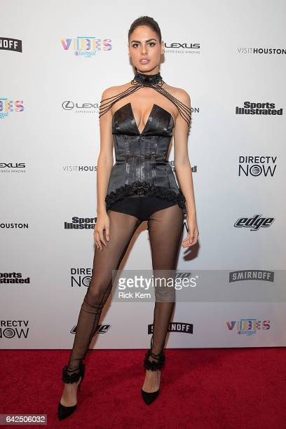 Swimsuit model Bo Krsmanovic attends the VIBES by Sports Illustrated Swimsuit 2017 launch festival at Post HTX on February 17 2017 in Houston Texas