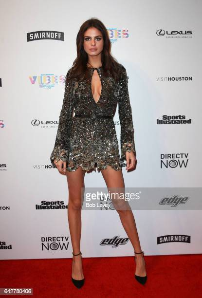 Swimsuit model Bo Krsmanovic attends the VIBES by Sports Illustrated Swimsuit 2017 launch festival at Post HTX on February 18 2017 in Houston Texas