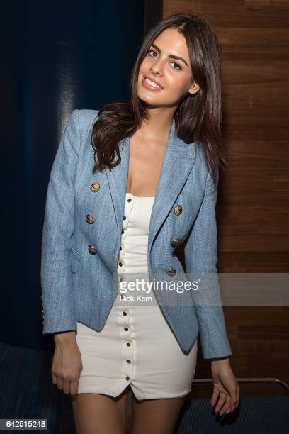 Swimsuit model Bo Krsmanovic signs autographs during the VIBES by Sports Illustrated Swimsuit 2017 launch festival on February 17 2017 in Houston...