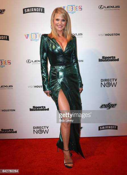 Swimsuit model Christie Brinkley attends the VIBES by Sports Illustrated Swimsuit 2017 launch festival at Post HTX on February 18 2017 in Houston...