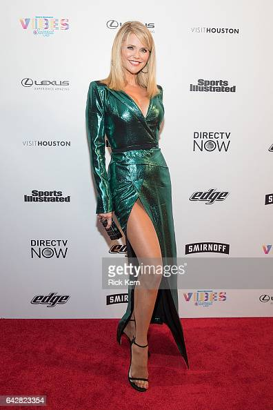 Swimsuit model Christie Brinkley attends the VIBES by Sports Illustrated Swimsuit 2017 launch festival on February 18 2017 in Houston Texas