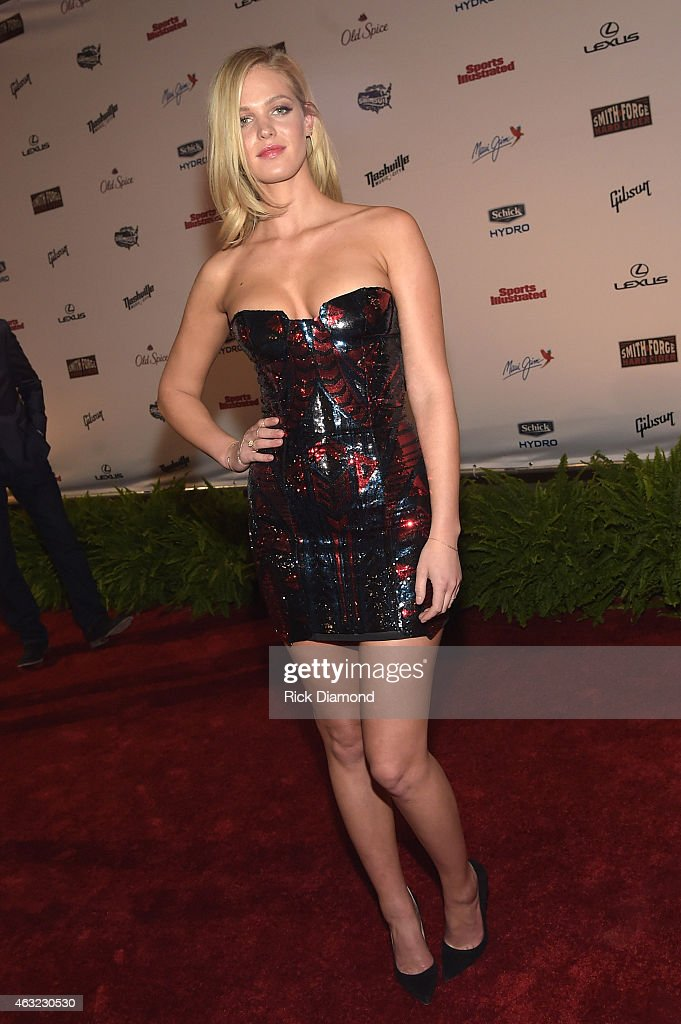 Swimsuit model Erin Heatherton attends the Sports Illustrated 2015 Swimsuit Takes Over The Schermerhorn Symphony Center>> on February 11 2015 in...