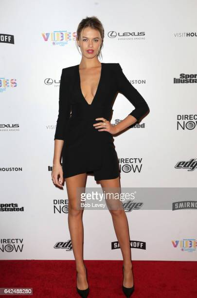 Swimsuit model Hailey Clauson at the VIBES by Sports Illustrated Swimsuit 2017 launch festival on February 17 2017 in Houston Texas