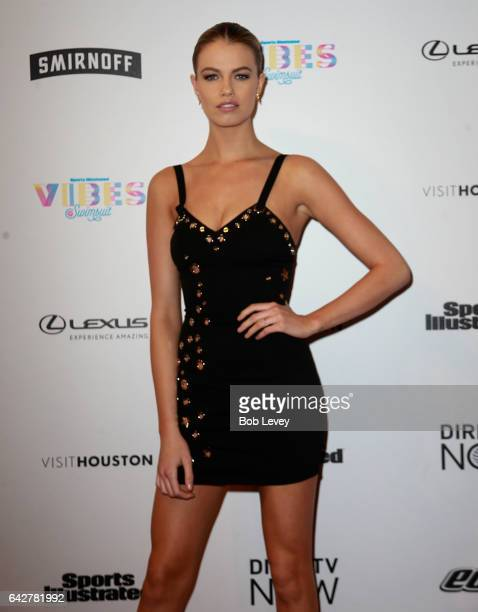 Swimsuit model Hailey Clauson attends the VIBES by Sports Illustrated Swimsuit 2017 launch festival at Post HTX on February 18 2017 in Houston Texas