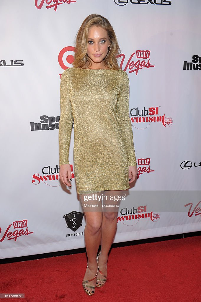 SI Swimsuit Model Hannah Davis attends Club SI Swimsuit at 1 OAK Nightclub at The Mirage Hotel & Casino on February 14, 2013 in Las Vegas, Nevada.