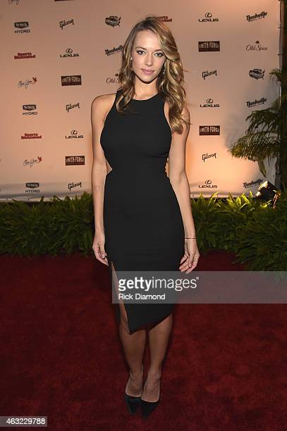 Swimsuit model Hannah Ferguson attends the Sports Illustrated 2015 Swimsuit Takes Over Nashville With Kings of Leon event on February 11 2015 in...