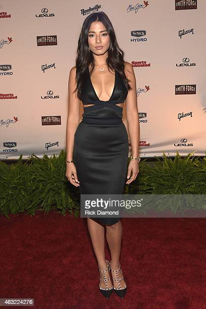 Swimsuit model Jessica Gomes attends the Sports Illustrated 2015 Swimsuit Takes Over Nashville With Kings of Leon event on February 11 2015 in...