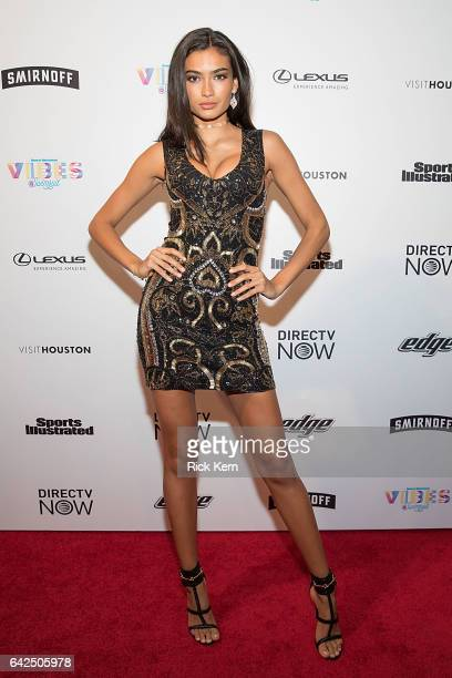 Swimsuit model Kelly Gale attends the VIBES by Sports Illustrated Swimsuit 2017 launch festival at Post HTX on February 17 2017 in Houston Texas