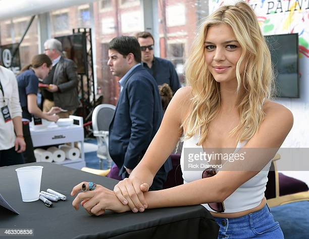 Swimsuit Model Kelly Rohrbach attends the 2015 Sports Illustrated Swimsuit's 'Swimville' Takes Over Nashville Day 2 on February 12 2015 in Nashville...
