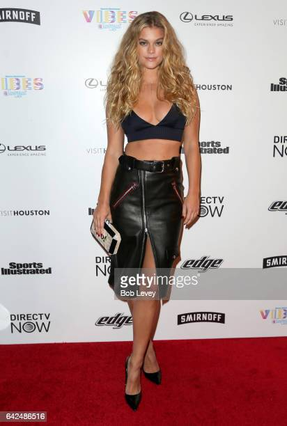 Swimsuit model Nina Agdal at the VIBES by Sports Illustrated Swimsuit 2017 launch festival on February 17 2017 in Houston Texas