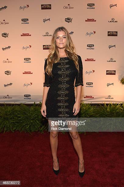 Swimsuit model Nina Agdal attends the Sports Illustrated 2015 Swimsuit Takes Over Nashville With Kings of Leon event on February 11 2015 in Nashville...