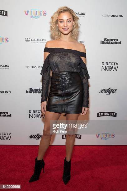 Swimsuit model Rose Bertram attends the VIBES by Sports Illustrated Swimsuit 2017 launch festival at Post HTX on February 17 2017 in Houston Texas