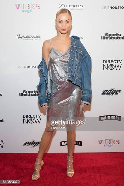 Swimsuit model Rose Bertram attends the VIBES by Sports Illustrated Swimsuit 2017 launch festival on February 18 2017 in Houston Texas