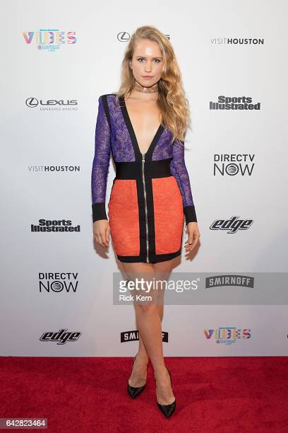 Swimsuit model Sailor Brinkley Cook attends the VIBES by Sports Illustrated Swimsuit 2017 launch festival on February 18 2017 in Houston Texas