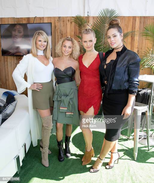 SI Swimsuit models Christie Brinkley Rose Bertram Sailor Brinkley Cook and Ashley Graham attend the VIBES by Sports Illustrated Swimsuit 2017 launch...