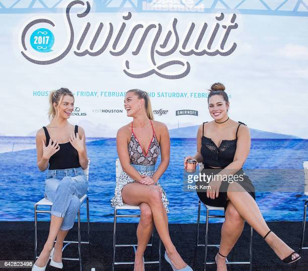 SI Swimsuit models Hailey Clauson Nina Agdal and Ashley Graham speak during a panel at the VIBES by Sports Illustrated Swimsuit 2017 launch festival...