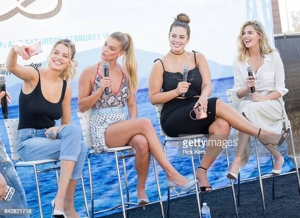 SI Swimsuit models Hailey Clauson Nina Agdal Ashley Graham and Kate Upton speak during a panel at the VIBES by Sports Illustrated Swimsuit 2017...