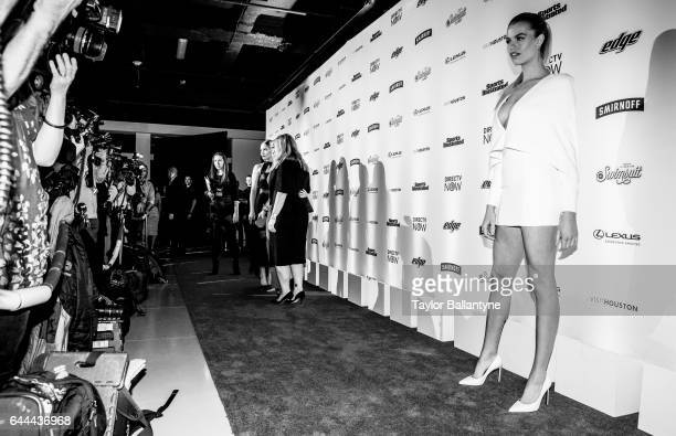 SI Launch Week Portrait of Hailey Clauson on red carpet during party at Center 415 New York NY CREDIT Taylor Ballantyne