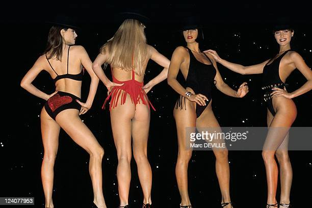Swimsuits of the 'Crazy Horse' in Paris France on June 26 1990