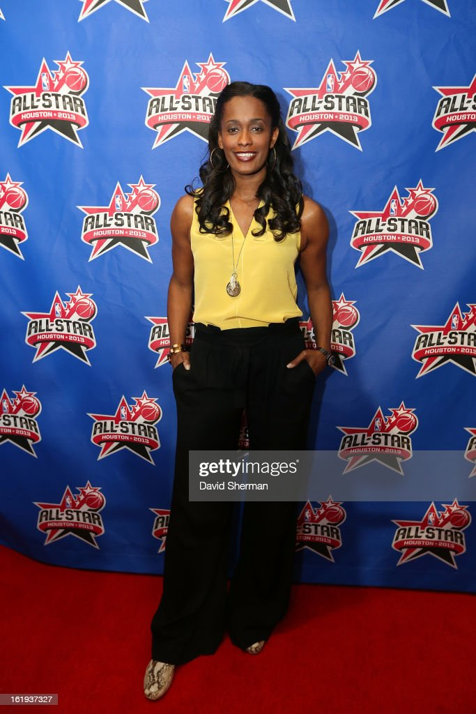 Swin Cash of the Chicago Sky poses on the All-Star Red Carpet prior to the 2013 NBA All-Star Game presented by Kia Motors on February 17, 2013 at the Toyota Center in Houston, Texas.