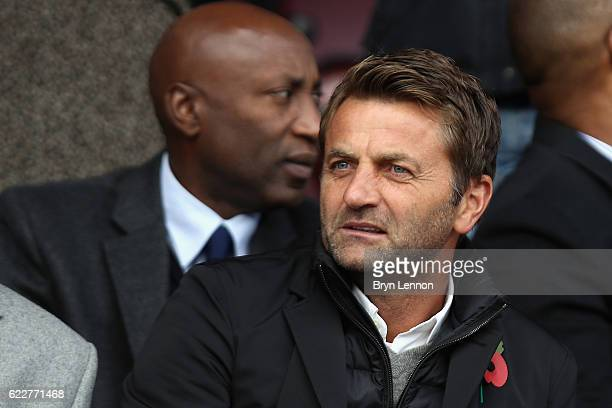Swindon Town Director of Football Tim Sherwood looks on prior to the Sky Bet League One match between Swindon Town and Charlton Athletic at County...