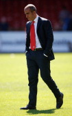 Swindon Town manager Paolo di Canio looks dejected after his sides defeat in the npower League Two match between Swindon Town FC and Oxford United at...