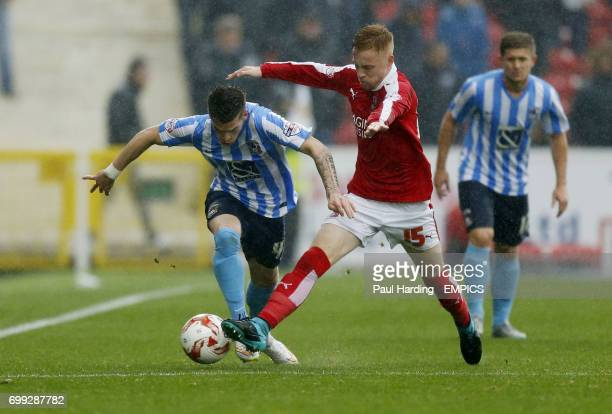 Swindon Town's James Brophy and Coventry City's Ryan Kent