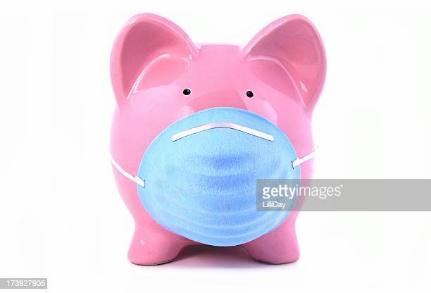 Swine Flu Piggy Concept