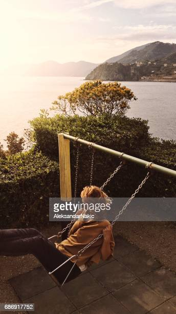 Swing above the sea