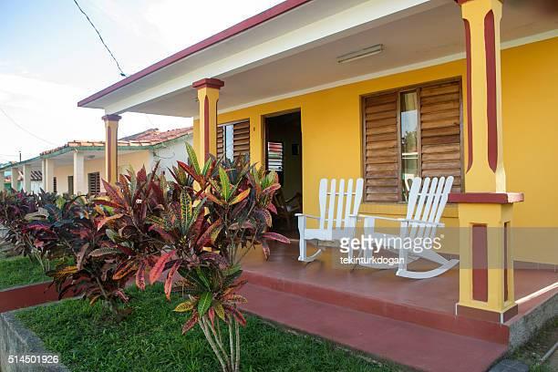 Schaukel Stühle im Veranda eines jeden Hauses in pinar del rio Kuba
