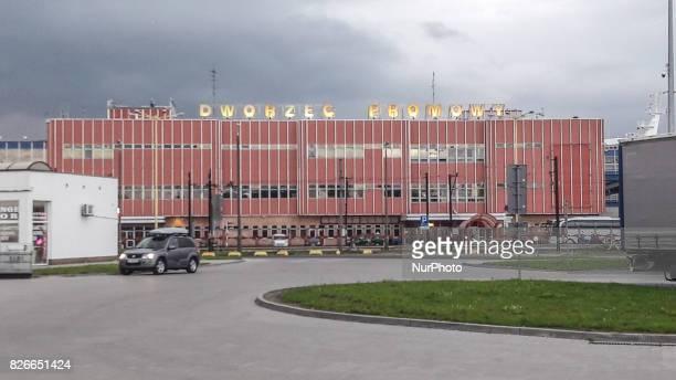 Swinoujscie Ferry Terminal is seen on 29 July 2017 in Swinoujscie Poland