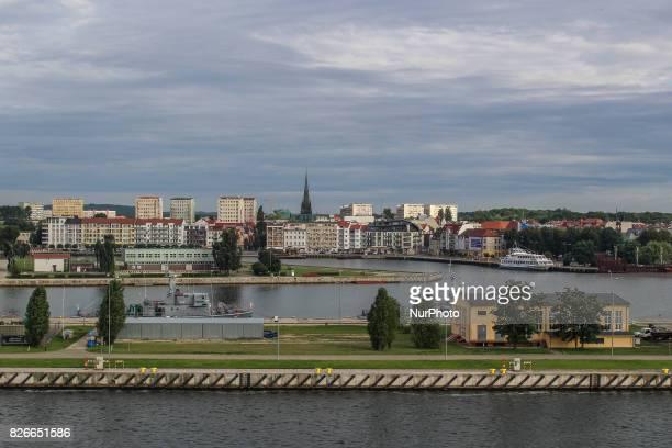 Swinoujscie port is seen on 30 July 2017 in Swinoujscie Poland