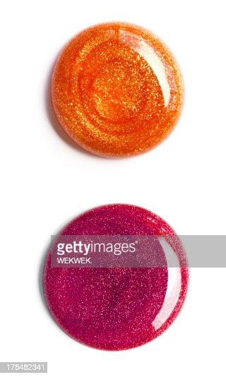 Swirl of nail polish, overhead view