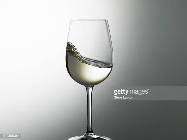 A swirl of white wine