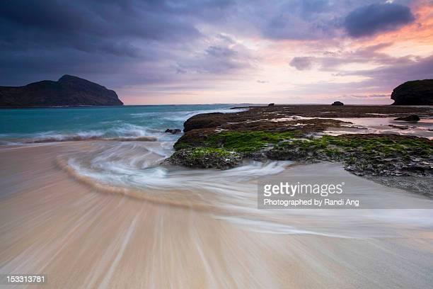 Swirl on beach