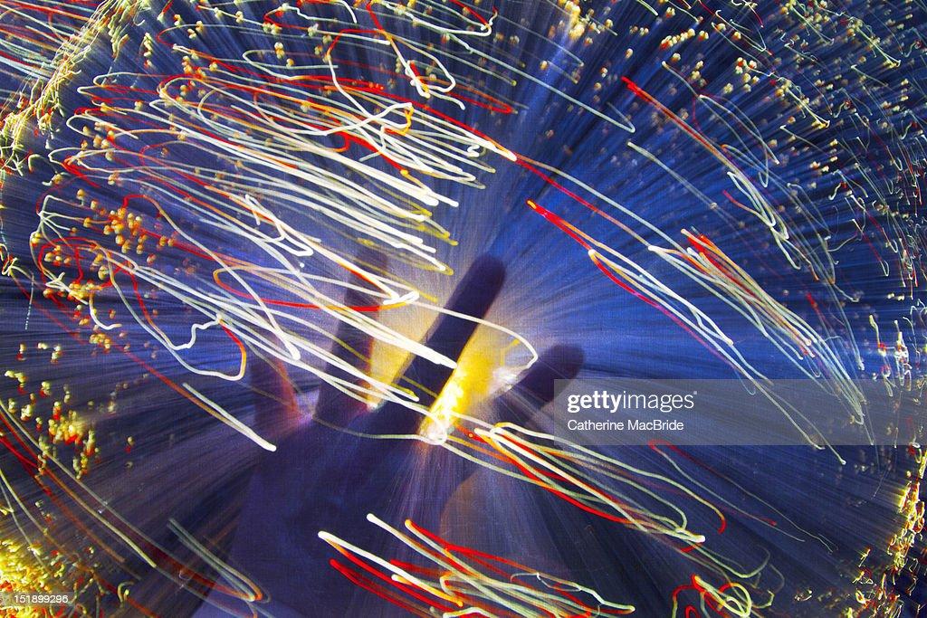Swirling light : Stock Photo