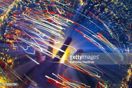 Swirling light : Stock Photo