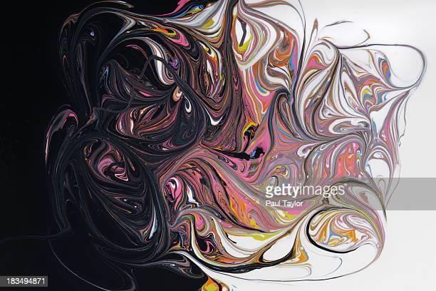 Swirling Paint, Dark to Light