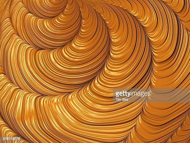 Swirly liquid gold