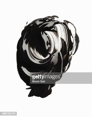 Swirly smudge of glossy mascara