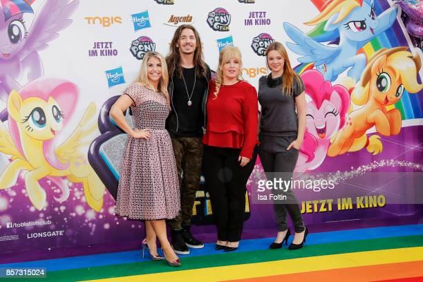 Swis singer Beatrice Egli German singer Gil Ofarim German actress Anne Wuensche and Irish singer Maite Kelly attend the 'My little Pony' Premiere at...