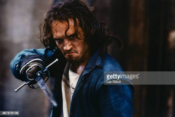 Swiss actor Vincent Perez on the set of the 1994 film La Reine Margot directed by Patrice Chereau