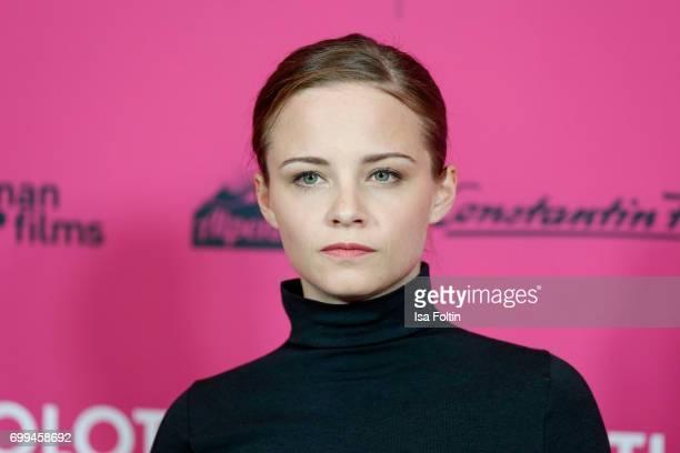 Swiss actress Jasna Fritzi Bauer attends the 'Axolotl Overkill' Berlin Premiere at Volksbuehne RosaLuxemburgPlatz on June 21 2017 in Berlin Germany