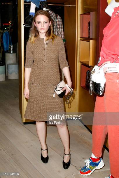 Swiss actress Jasna Fritzi Bauer during the Chanel popup store opening at Soho House on April 19 2017 in Berlin Germany