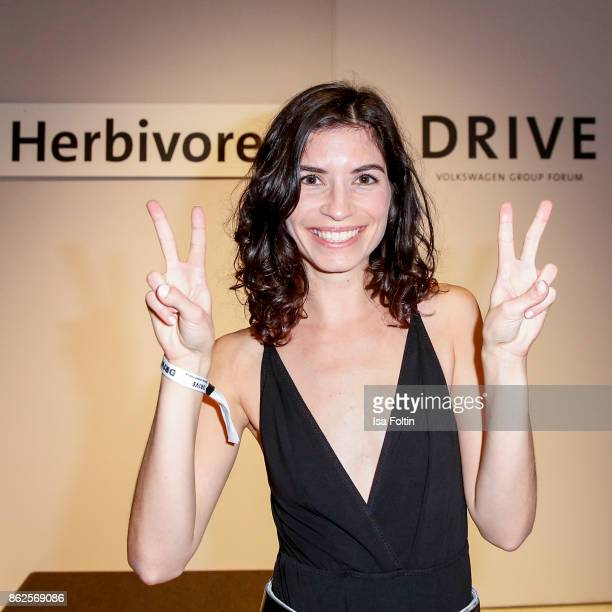 Swiss actress Tanja Lehmann attends the Clich'e Bashing 'Beef mit den Veggies' at DRIVE Volkswagen Group Forum on October 12 2017 in Berlin Germany