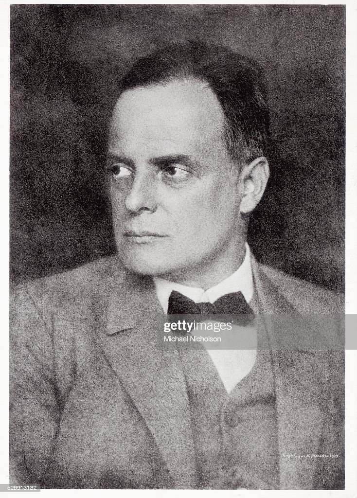 Swiss artist <a gi-track='captionPersonalityLinkClicked' href=/galleries/search?phrase=Paul+Klee&family=editorial&specificpeople=917074 ng-click='$event.stopPropagation()'>Paul Klee</a> (1879-1940), a Surrealist painter who taught at Bauhaus from 1920-1932. His works were confiscated by the Nazis as degenerate.