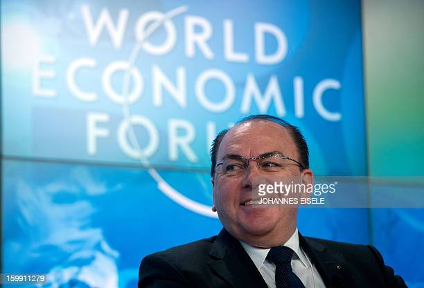 Swiss banking giant UBS board of directors Chairman Axel A Weber attends on January 23 2013 a session of the annual World Economic Forum meeting in...
