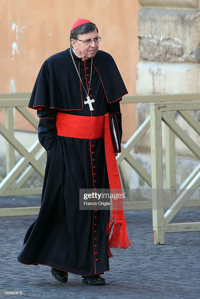 Swiss cardinal Kurt Koch arrives at the Paul VI hall for the opening of the Cardinals' Congregations on March 4, 2013 in Vatican City, Vatican.The congregations of cardinals will continue until all cardinal electors have arrived in Rome, whereupon the College will decide on the start-date of the Conclave to elect a new Pope.